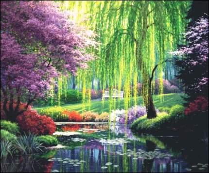 """Набор алмазной вышивки """"Яркие Грани"""" """"В парке"""", размер 113х94см, 75 цветов"""
