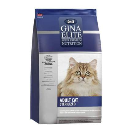 Сухой корм для кошек Gina Elite Sterelized, для стерилизованных, домашняя птица, 8кг