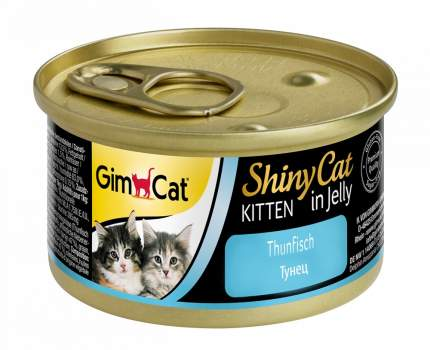 Консервы для котят GimPet ShinyCat Kitten, рыба, 70г