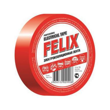 Изолента ПВХ FELIX, красная