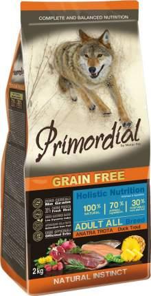 Сухой корм для собак Primordial Grain Free Adult All, форель, утка, 2кг