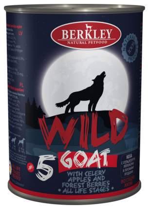 Консервы для собак Berkley Wild Goat №5 коза с сельдереем яблоками и лесными ягодами, 400г