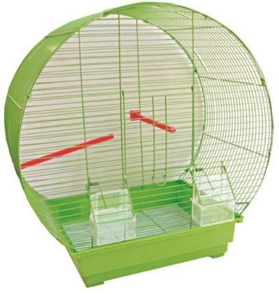 Клетка для птиц №1, прямоугольный поддон, верх круглый, 47 х 27 х 50 см