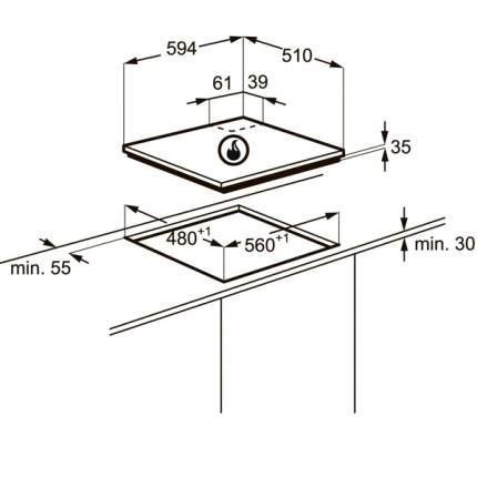 Встраиваемая варочная панель газовая Zanussi ZGX565414X Silver