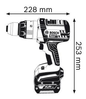 Аккумуляторная дрель-шуруповерт Bosch GSB 14,4 VE-2-LI 06019D9200