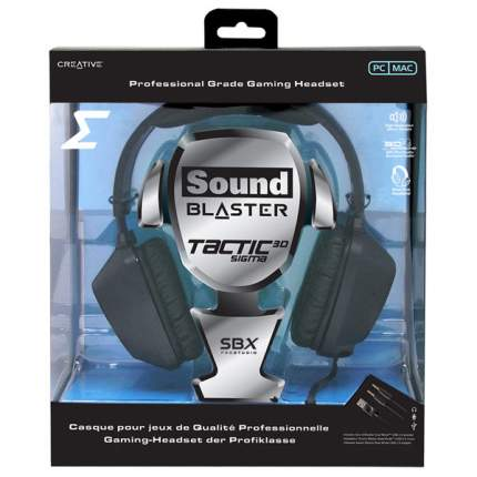 Игровые наушники Creative Sound Blaster 3D Sigma Black