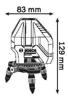 Лазерный нивелир Bosch GLL 3-15X 0601063M00