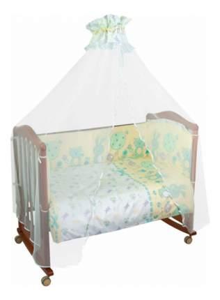Борт в кроватку Сонный Гномик Акварель бирюзовый