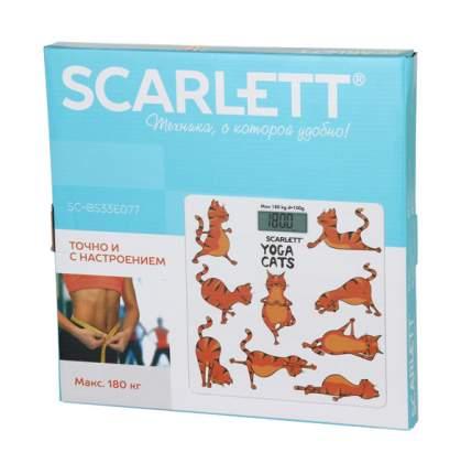 Весы напольные Scarlett SC-BS33E077 Белый, оранжевый