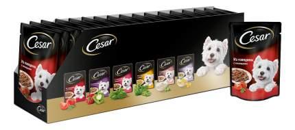 Влажный корм для собак Cesar, говядина с овощами, 24шт, 100г