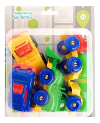 Набор пластиковых машинок Пластмастер Малютка 4 шт.