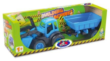Спецтехника Zebratoys Трактор с ковшом и прицепом ACTIVE в коробке 15-10173