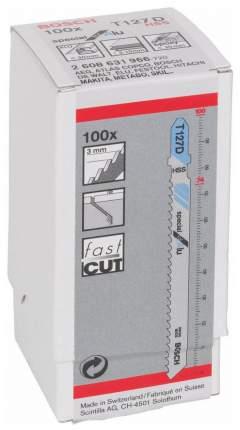 Набор пилок для лобзика Bosch T 127 D, HSS 2608631966