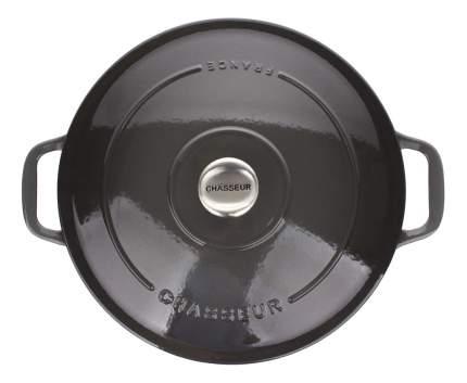 Кастрюля для запекания CHASSEUR Чугунная 6,3 л cеребристо-черный