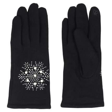 Женские черные перчатки со стразами Pia Rossini Tillie_black