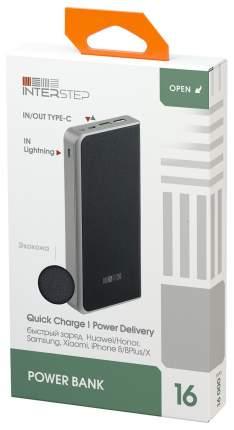 Внешний аккумулятор InterStep PB1618PD 16000 мА/ч (IS-AK-PB1618QPD-BLKB201) Black