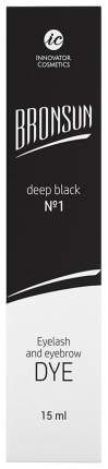 Краска для бровей Innovator Cosmetics BRONSUN №1 Deep black 15 мл