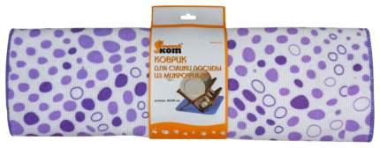 Коврик для сушки посуды Рыжий кот Mdm-01-Xl Белый, фиолетовый