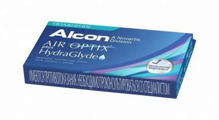 Контактные линзы Air Optix plus HydraGlyde 3 линзы +8,00