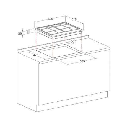 Встраиваемая газовая панель Hotpoint-Ariston 7HPCN 640 T (AN) R/HA Anthracite