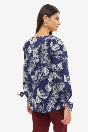 Блуза женская D&M by 1001DRESS DM01668DB синяя XS