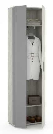 Платяной шкаф Mobi Шкаф Юнона дуб белый/серый шифер 1356433 68х35х191, дуб белый