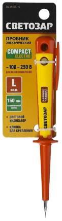 Пробник СВЕТОЗАР корпус, на карточке, 100-250В, 150мм