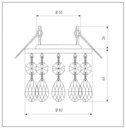 Встраиваемый светильник Elektrostandard 2055 MR16 CH/CL