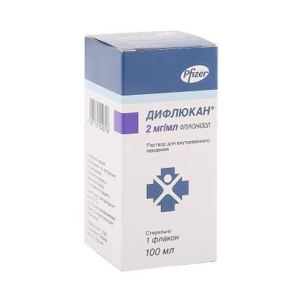 Дифлюкан раствор 2 мг/мл 100 мл