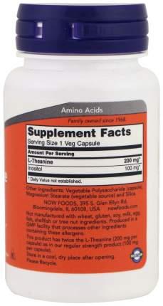 Для нервной системы NOW L-Theanine 200 мг 60 капсул