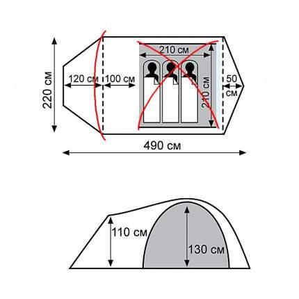 Комплект алюминиевых дуг для палатки Tramp Cave