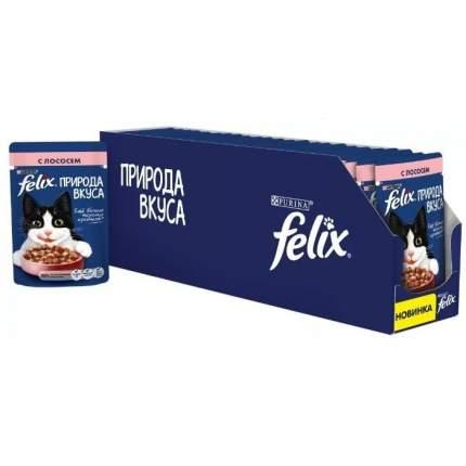 Влажный корм для кошек Felix Природа вкуса, лосось, 24шт, 85г