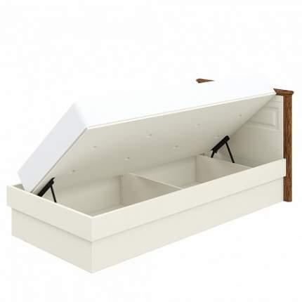 Кровать односпальная Мебель-Неман МН-126-18 90х200 см, белый/коричневый