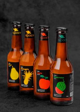 Сидр б/а яблоко Space Apple Cider