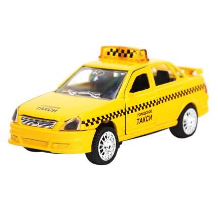 Машина Технопарк инерционная, металлическая Лада-Приора такси 1:43, со светом и звуком