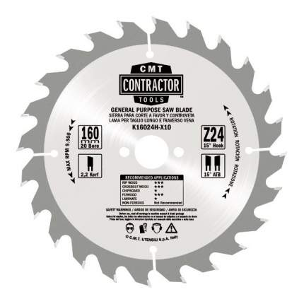 Диск пильный 190x2.2/1.4x30 Z24 ATB (без инд. упаковки) K19024M-X10