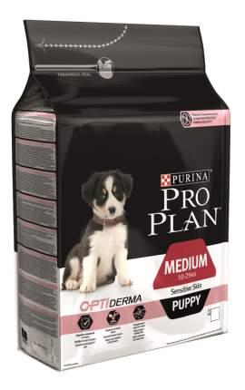 Сухой корм для щенков PRO PLAN OptiDerma Medium Puppy, для средних пород, лосось, 12кг