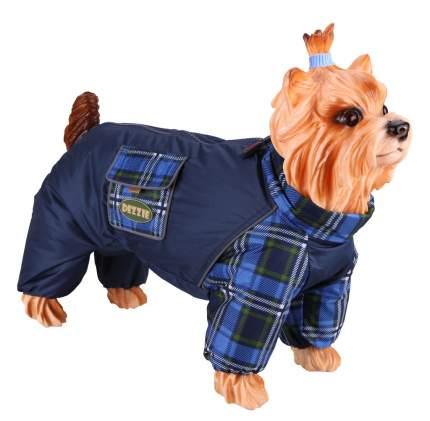 Комбинезон для собак DEZZIE размер L женский, синий, длина спины 31 см