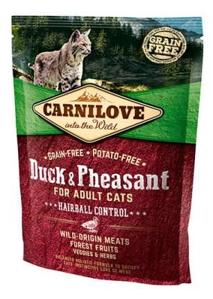 Сухой корм для кошек Carnilove Hairball Control, для выведения шерсти, утка, фазан, 0,4кг