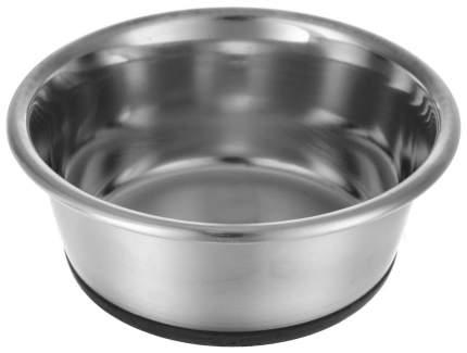 Одинарная миска для кошек и собак HUNTER, сталь, резина, серебристый, 0.35 л