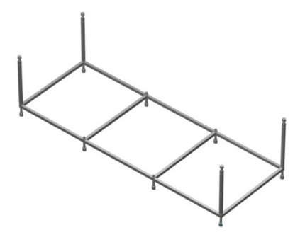Комплект монтажный Roca Hall к а/в 170х75см (ZRU9302770)