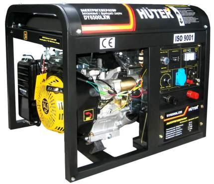 Бензиновый генератор HUTER DY6500LXW.с функцией сварки, с колёсами