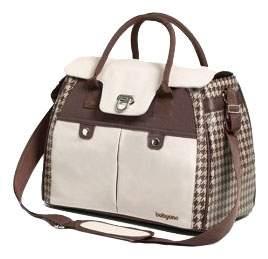 Дорожная сумка для коляски BabyOno Для Мамы Elegance бело-коричневая