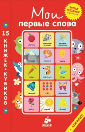 Мои первые Слова 15 книжек-Кубиков Русский Язык (Комплект из 15 книг)
