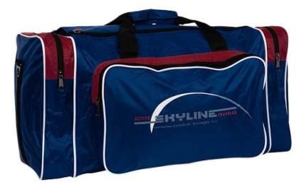 Дорожная сумка Polar 6008 синяя/бордовая 56 x 30 x 30