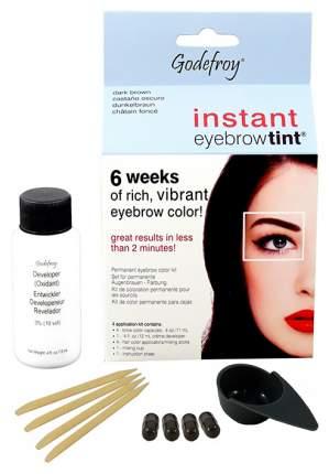Краска-хна для бровей Godefroy Instant Eyebrow Tint Kit Dark Brown 4 капсулы