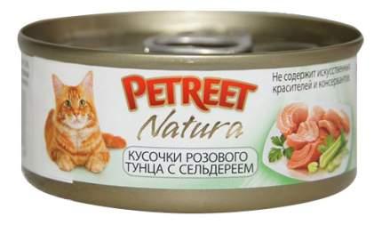 Консервы для кошек Petreet Natura, тунец, сельдерей, 70г