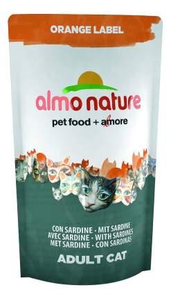Сухой корм для кошек Almo Nature Orange Label, для стерилизованных, сардина, 0,105кг