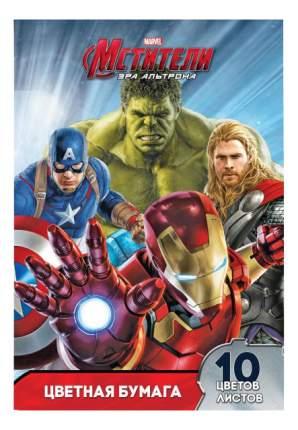 Бумага для рисования Marvel. Мстители 2-сторонняя 10 цветов