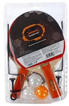 Набор для настольного тенниса X-Match 635058, 2 ракетки, 3 мяча, сетка